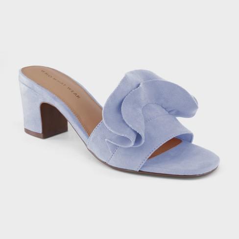 905f62755 Women s Zadie Heeled Slide Sandals - Who What Wear™ Blue 9   Target