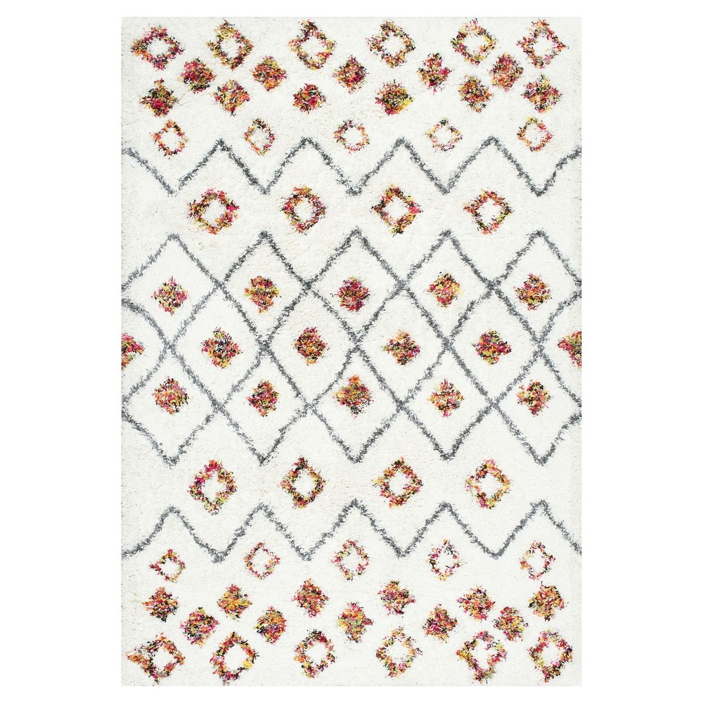 White Solid Loomed Area Rug - (6'7x9') - nuLOOM