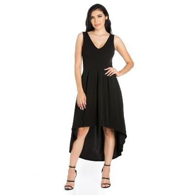 24seven Comfort Apparel Women's Sleeveless Fit N Flare Dress