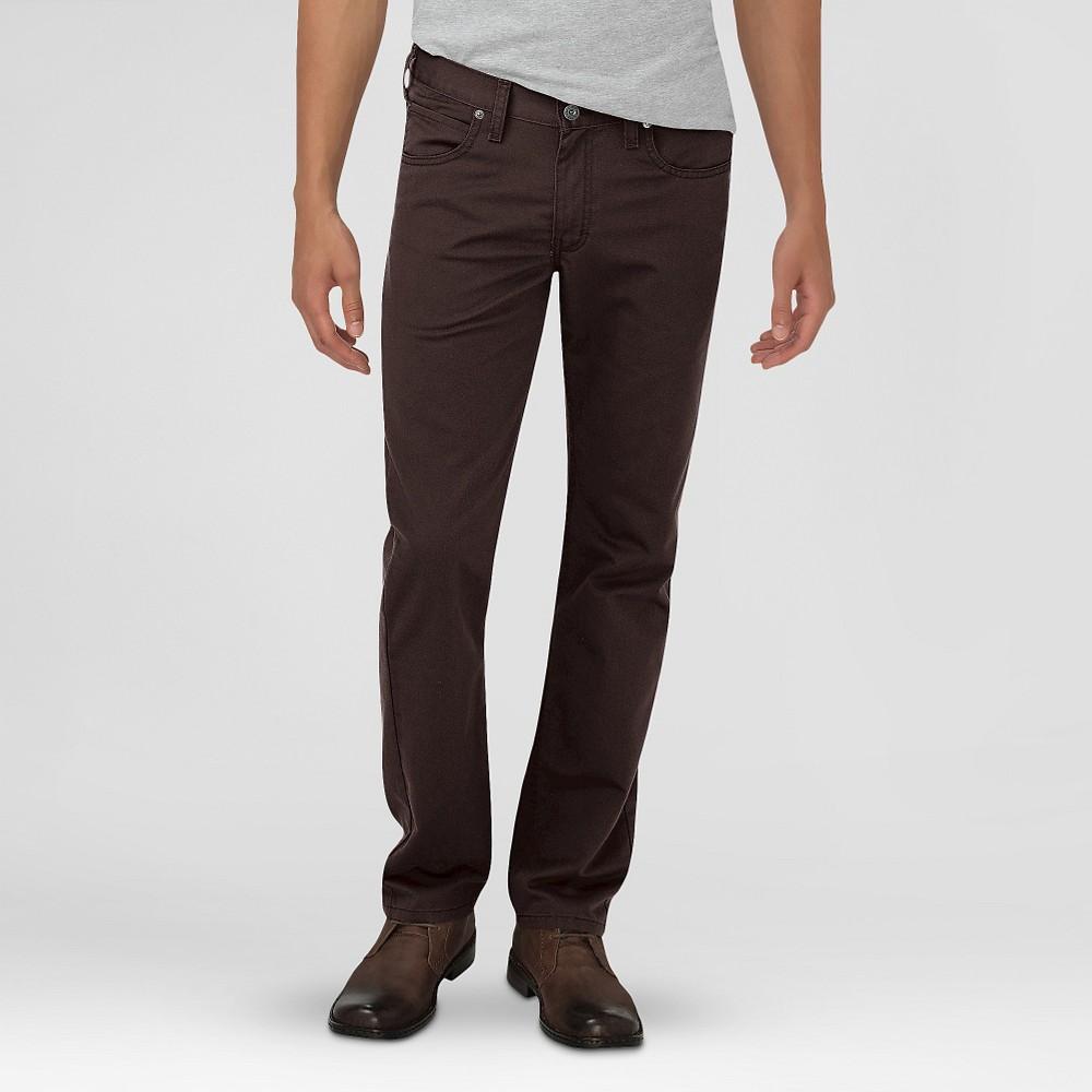 Dickies Men's Slim Fit 5-Pocket Pants Dark Brown 30X32, Dark Chestnut