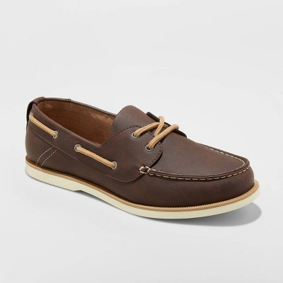 Men's Rice Boat Shoes - Goodfellow & Co™ Brown 13