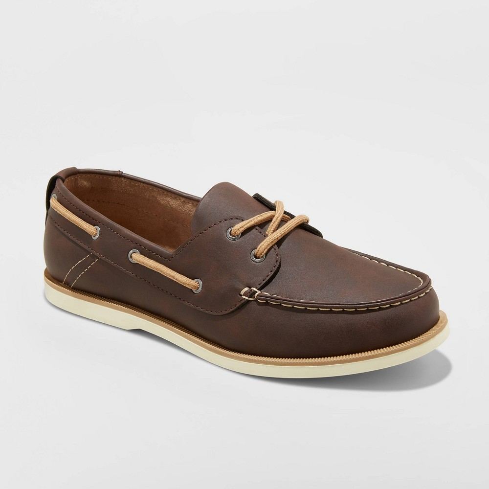 Image of Men's Rice Boat Shoes - Goodfellow & Co Brown 10.5, Men's