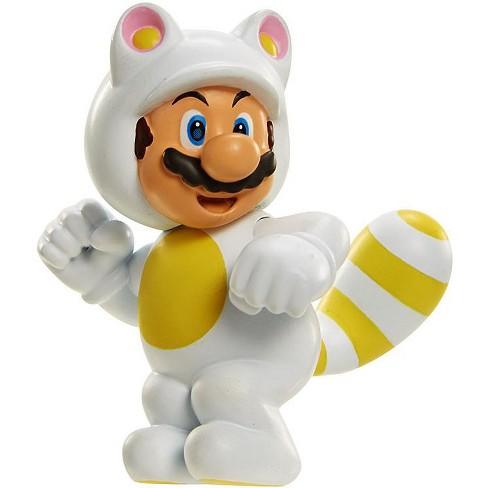 World of Nintendo Super Mario White Tanooki Mario 2.5-Inch Mini Figure - image 1 of 2