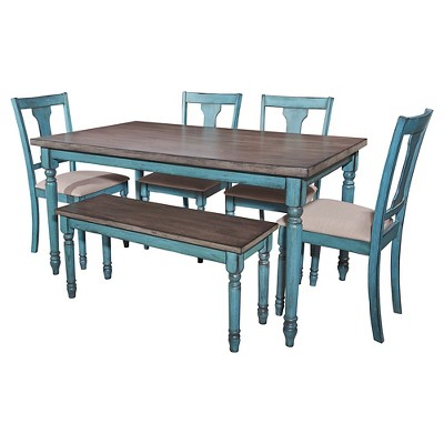 Superieur Reagan Teal Dining Collection   Powell Company : Target