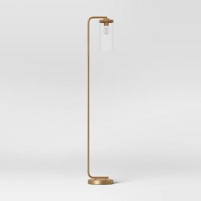 Lyndon Floor Lamp Brass (Includes LED Light Bulb) - Threshold™