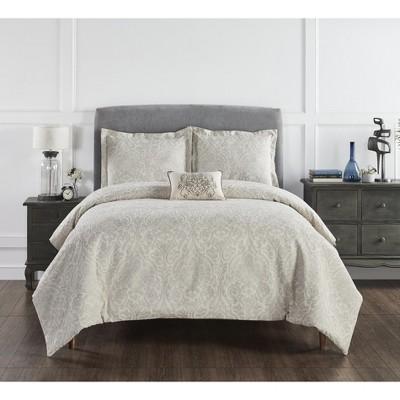 Haven Damask Collection 100% Cotton Jacquard Unique Luxurious Comforter Set - Better Trends