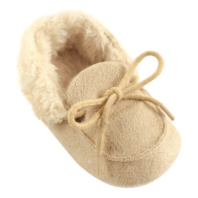 Luvable Friends Baby Girl Moccasin Shoes, Beige