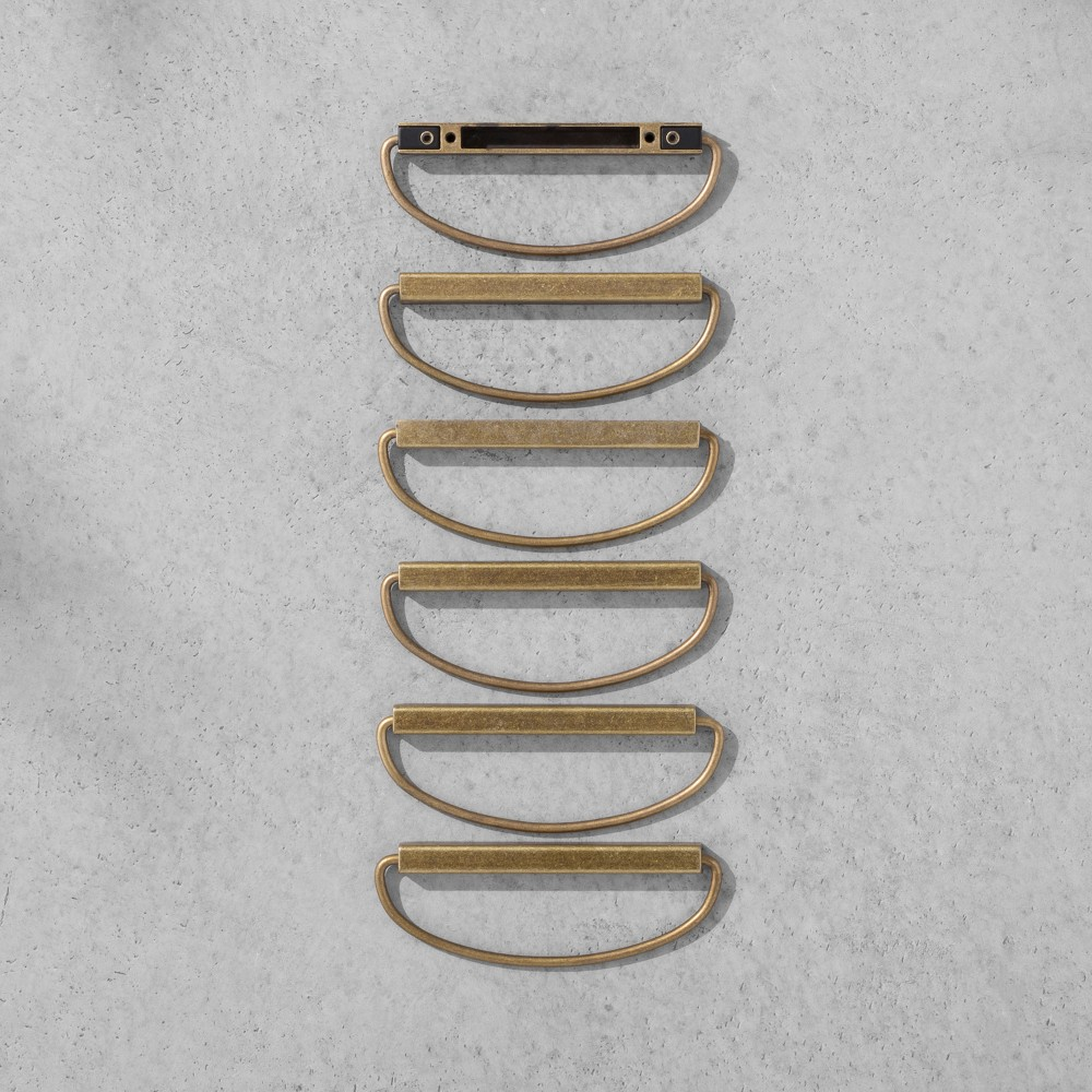 Loop Pull Brass 6 pk - Hearth & Hand with Magnolia