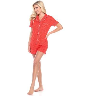 Women's Short Sleeve Pajama Set - White Mark