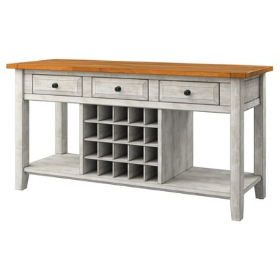 South Hill Sideboard Buffet with Wine Rack Antique White - Inspire Q