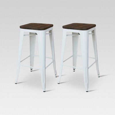Hampden Industrial 29  Barstool White Set of 2 - Threshold™