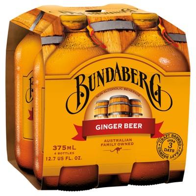 Bundaberg Ginger Beer - 4pk/375ml Bottles