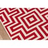 4'X6' Geometric Woven Accent Rug Red - Momeni - image 3 of 4