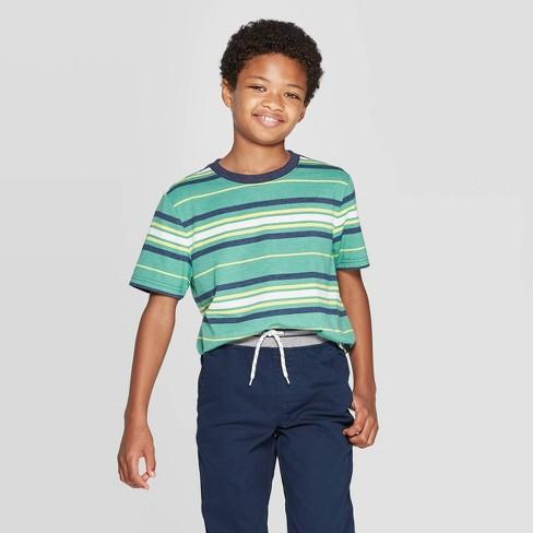 Boys' Short Sleeve T-Shirt - Cat & Jack™ Green - image 1 of 3