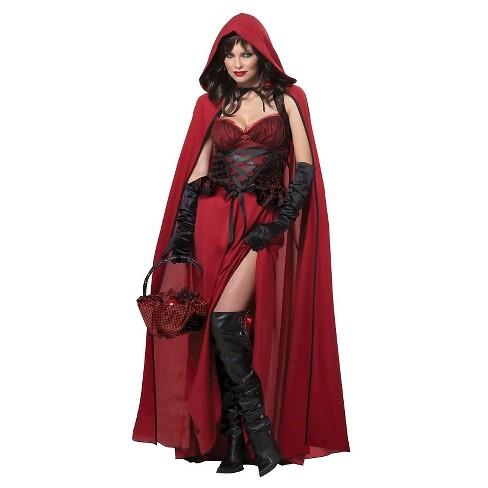 Women s Dark Red Riding Hood Costume   Target ebc2ec56a