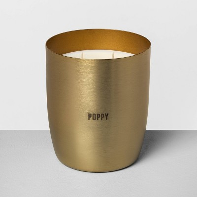 25oz Large Brass Candle Poppy - Hearth & Hand™ with Magnolia