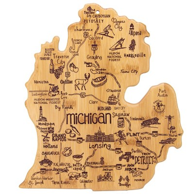 Totally Bamboo Destination Michigan (Mitt)Serving and Cutting Board