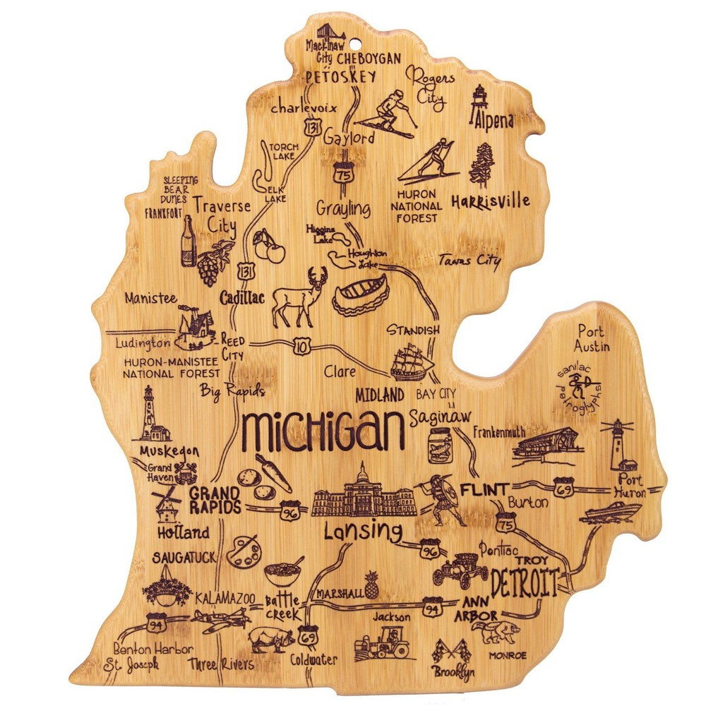 Reviews Totally Bamboo Destination Michigan (Mitt) Serving and Cutting Board