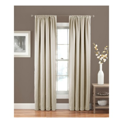 "63""x54"" Solid Thermapanel Room Darkening Curtain Panel Beige - Eclipse"