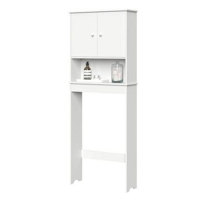 Over Toilet Cabinet with Adjustable Shelf White - RiverRidge Home