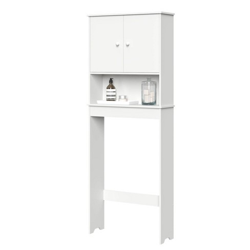Over Toilet Cabinet With Adjustable Shelf White