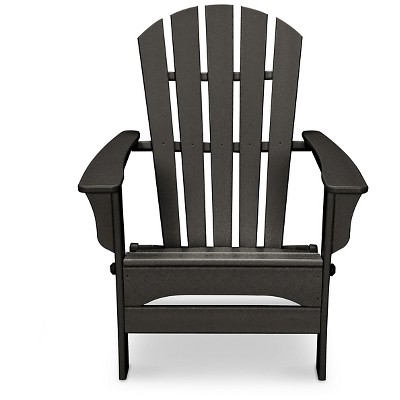 POLYWOOD St Croix Black Patio Adirondack Chair - Exclusively At Target