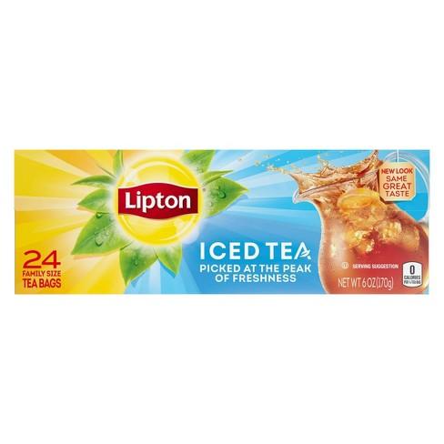 Lipton Family Black Iced Tea Bags Unsweetened - 24ct - image 1 of 4