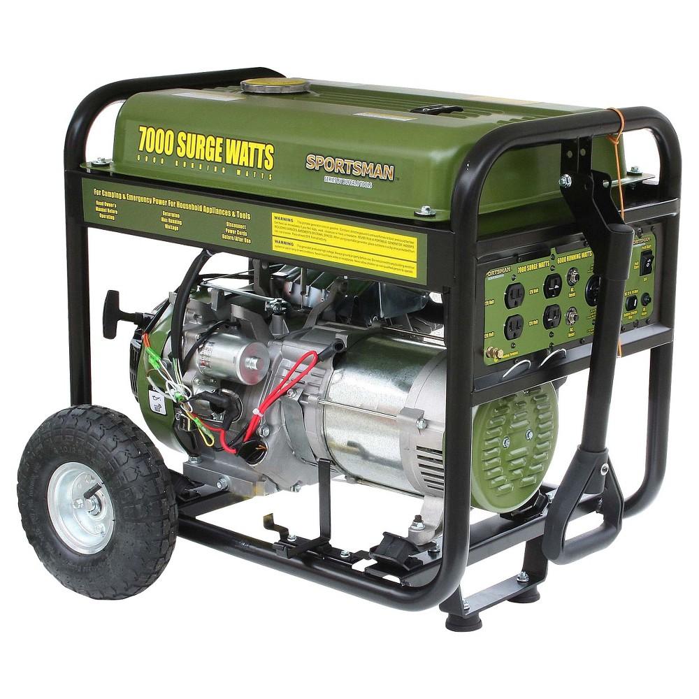 Gasoline 7000 Watt Generator - Green - Sportsman