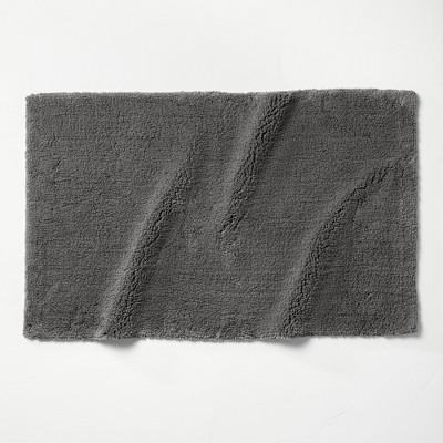 "24""x40"" Ultra Soft Tufted Bath Rug Dark Gray - Casaluna™"