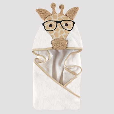 Hudson Baby Giraffe Hooded Towel - Beige One Size