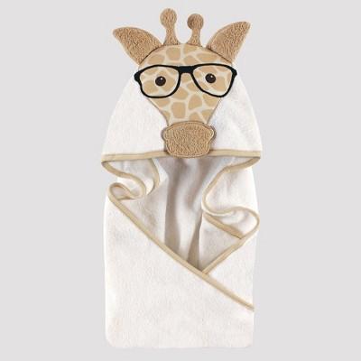 Hudson Baby Giraffe Hooded Towel - Beige One Size