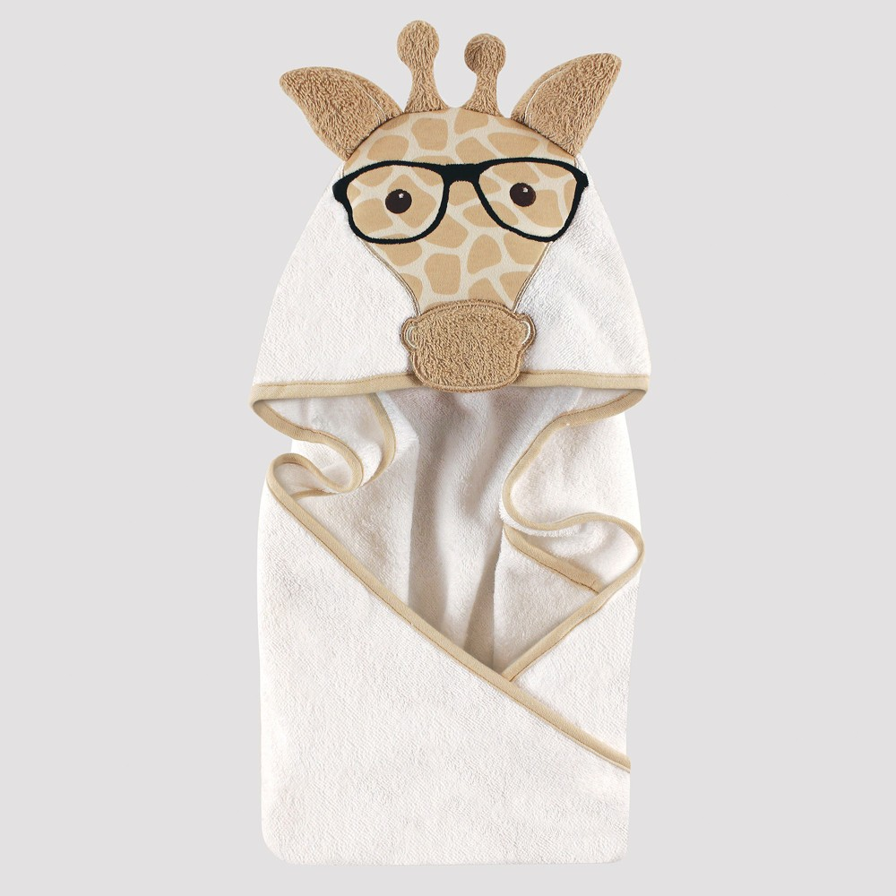 Image of Hudson Baby Giraffe Hooded Towel - Beige One Size
