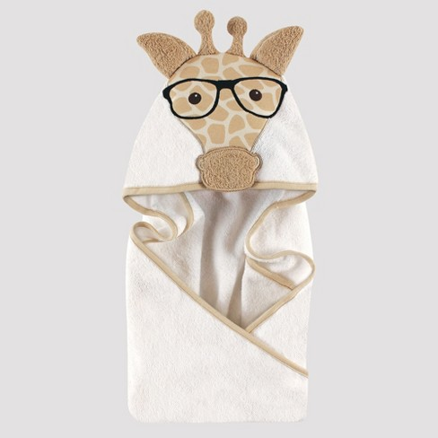Hudson Baby Giraffe Hooded Towel - Beige One Size - image 1 of 1