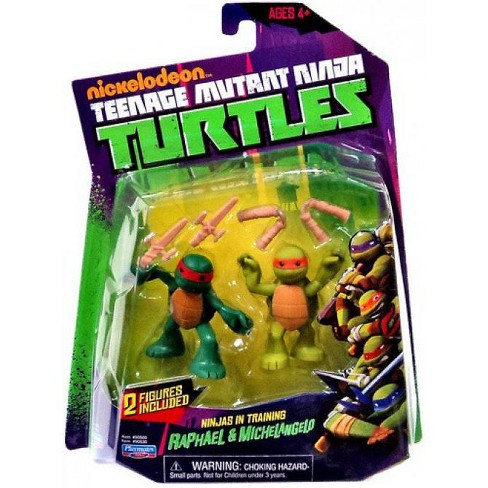 Teenage Mutant Ninja Turtles Nickelodeon Ninjas in Training Raphael and Michelangelo Action Figure 2-Pack - image 1 of 1