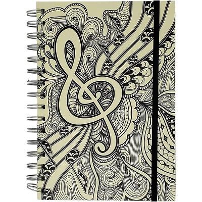 Pyramid America Music Note Line Sketch Premium Journal