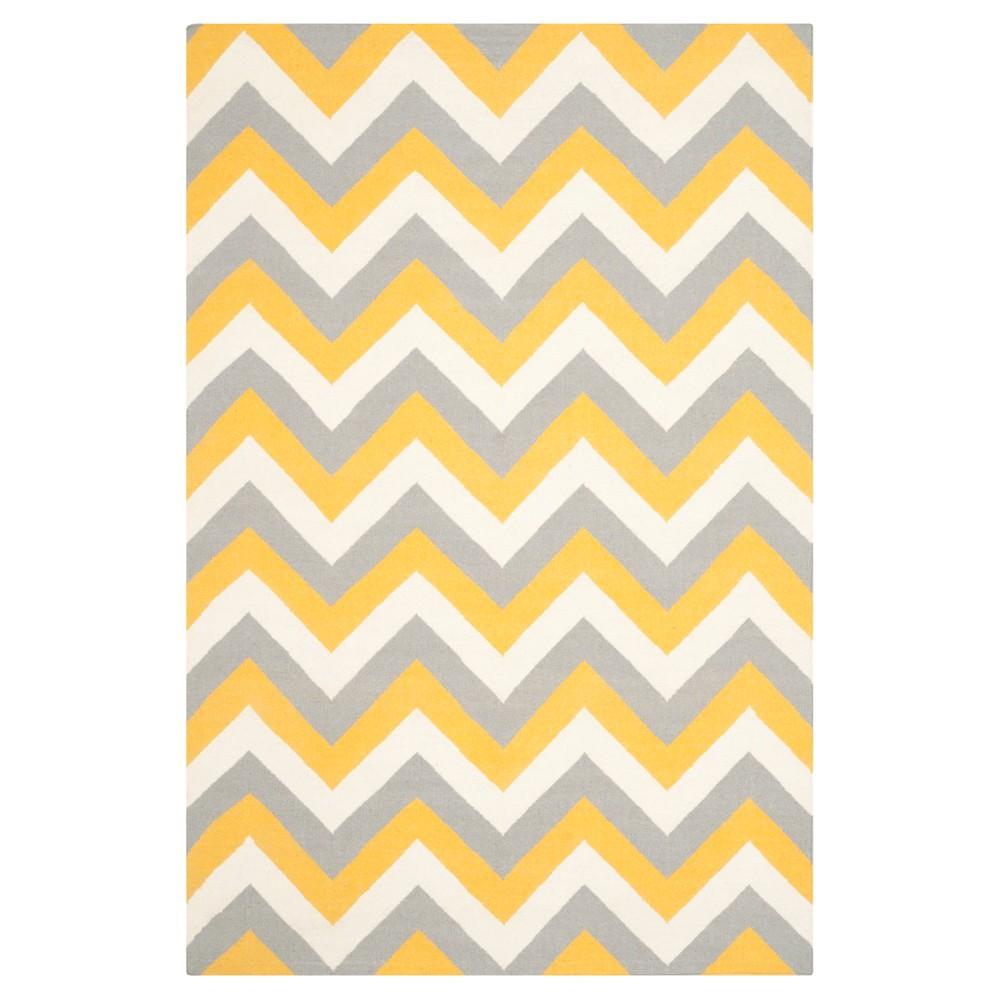 Julianne Dhurrie Area Rug - Gold / Gray (6' X 9') - Safavieh