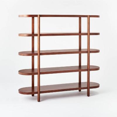 "56.8"" Portola Hills 5 Shelf Horizontal Bookcase - Threshold™ designed with Studio McGee"
