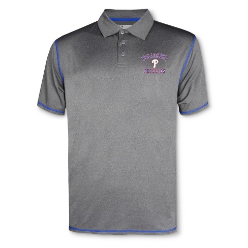 MLB Philadelphia Phillies Men's Your Team Gray Polo Shirt - image 1 of 1