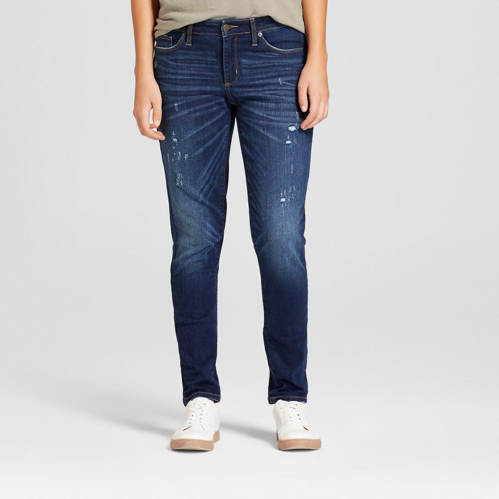 Women's Mid-Rise Skinny Jeans - Universal Thread Dark Wash 10, Blue