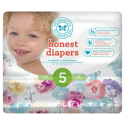 Honest Company Diapers, Rose Blossom - Size 5 (25ct)