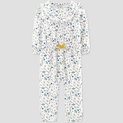 Baby Girls' Floral Jumpsuit - Just One You® made by carter's Ivory 6M