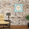 """20"""" Rustic Teal Square Wall Clock Teal - Threshold™ - image 3 of 4"""