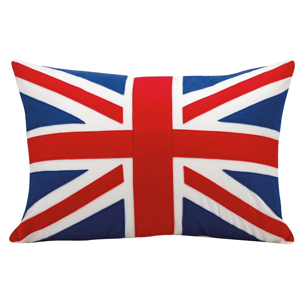 """Image of """"British Flag Throw Pillow (16""""""""x24"""""""") - Nourison, Multi-Colored"""""""