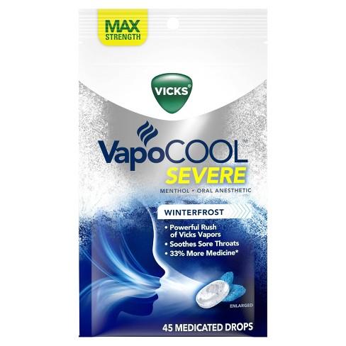 Vicks VapoCOOL Severe Medicated Throat Drops - Menthol - 45ct