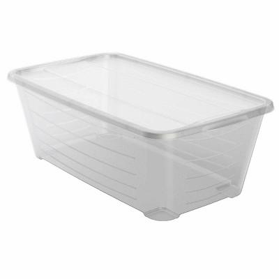 Life Story 6 Qt Rectangular Clear Plastic Protective Storage Shoe Box (20 Pack)