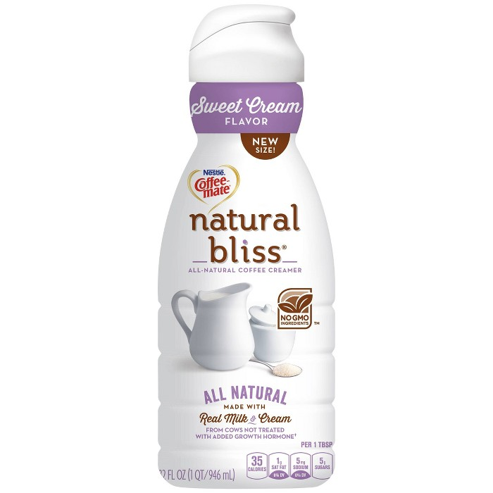 Coffee Mate Natural Bliss Sweet Cream Coffee Creamer - 1qt - image 1 of 7