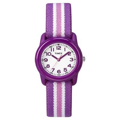 Kid's Timex Watch with Striped Strap - Purple TW7C061009J