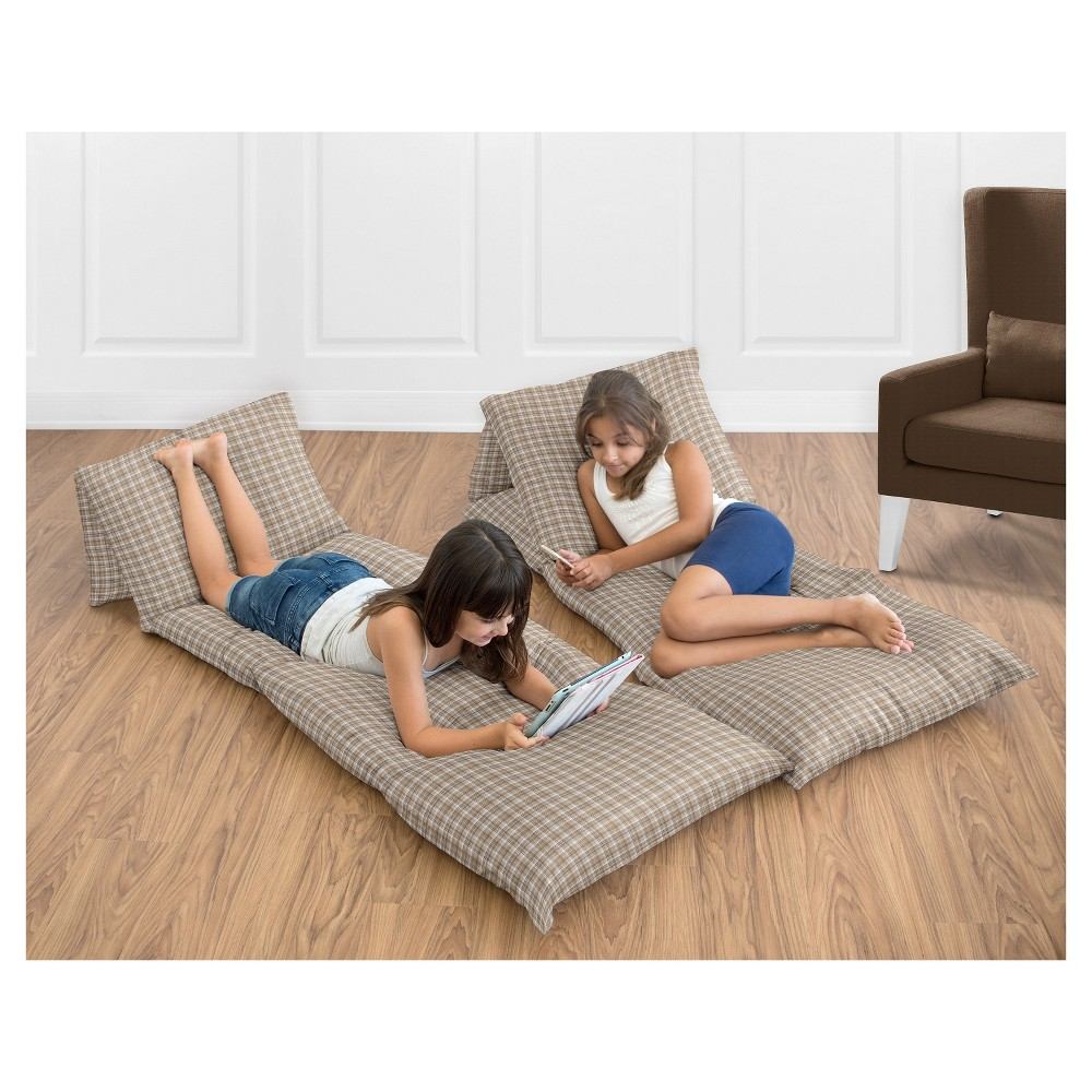 Tan Floor Pillow Lounger Cover (Pillows Not Included) - Sweet Jojo Designs