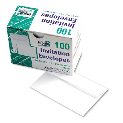 Quality Park Greeting Card/Invitation Envelope #5 1/2 4 3/8 x 5 3/4 White 100/Box 36217