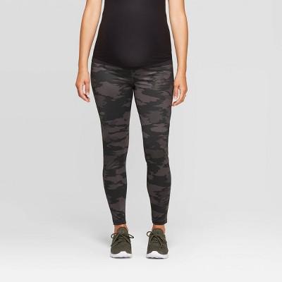 Maternity Camo Print Activewear Leggings - Isabel Maternity by Ingrid & Isabel™ Black